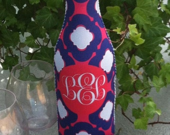 Monogrammed Wine Bottle Sleeve Kate