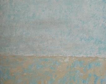 Serenity abstract minimalist painting