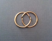 RESERVED Eternity - Antique Gimmel Ring Simple 18k Gold Wedding Band Splits Open