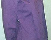 MOSCHINO SHIRT ITALY Purple Sash Tie Size 2 Vintage