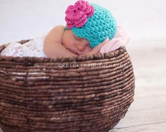newborn girls hat, girls hat, baby girl hat, newborn baby hat, newborn hat, baby hat, crochet baby hat