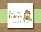 Add-On Custom Colors for a Printable Party Pack