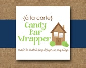 Made to Match CANDY BAR Wrapper - DIY Printable - Personalize and Coordinate with Any Design in My Shop