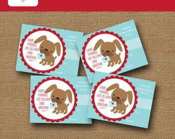 Kids Printable Valentine Card | Puppy Dog Valentine | DIY PRINTABLE | Christian, Bible Verse Valentine for Children | Instant Download