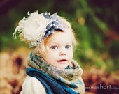 Crystal Snowflakes Bow Headband by London Raquel