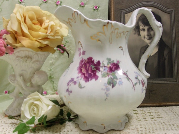 Antique Pitcher by Johnson Bros Semi-Porcelain Made in England