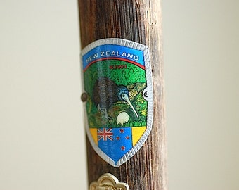 Gentleman's Walking Stick - Travel With Me, Personalized Gift For Dad, Travel Badges on Walking Stick,