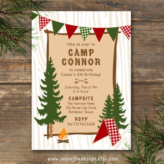 Camping Birthday Party Invitations for your inspiration to make invitation template look beautiful