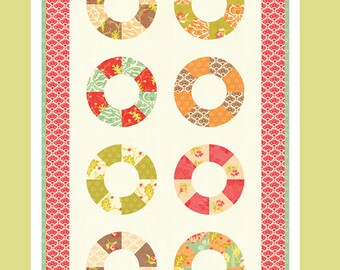 Lifesavers Mini Quilt/Table Runner Pattern - Fig Tree & Co - Uses Honeysweet Charm Packs by Fig Tree for Moda Fabrics