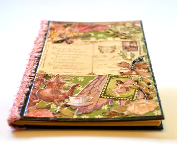 Girl's diary- Buds of Fairy Beauty- handmade journal, gift for tween girl, girl gift, victorian fairy, dainty gift for girl, vintage fairy