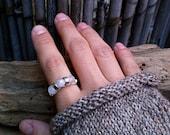 Moira Ring / Natural Moonstone & Silver