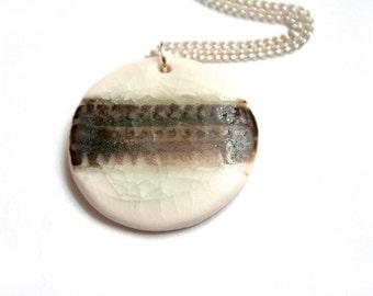 Ceramic pendant necklace - Ceramic jewelry - Contempary Porcelain necklace