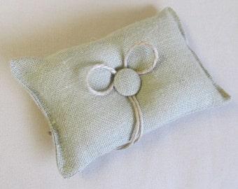 SAGE Burlap ring bearer pillow
