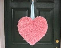 Valentine Heart/fabric heart/valentine decor/valentine front door wreath/Valentines Day