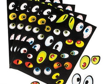 Jeepers Creepers Eyeball Stickers (12 Sheets)