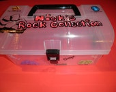 Personalized Rock Collection Storage Gift Portable Organizer Decorated