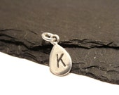 ADD ON Dainty Sterling Silver Personalized Custom Stamped Initial Letter Tag Charm by Graceful Deviant