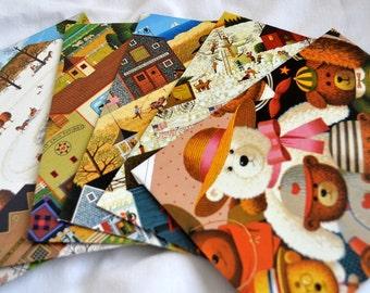 Charles Wysocki Americana folkart upcycled envelopes 6
