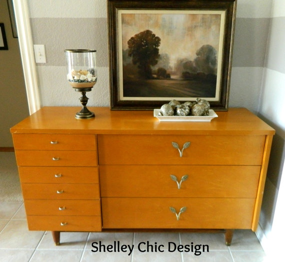 Mid Century Modern Danish Dresser By Huntley By