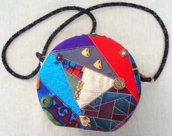 CLEARANCE  Crazy Quilt Purse from the 80s.