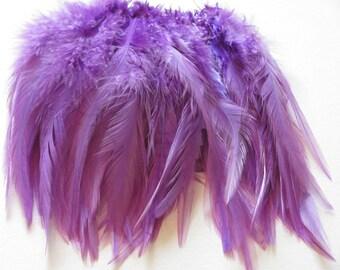 Rooster Saddle Hackle - Lavender