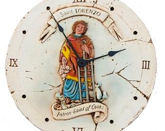 Patron Saint of Cooking Kitchen Wall Clock