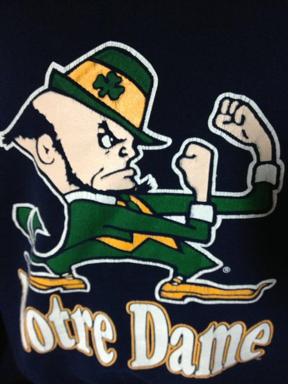 Vintage NOTRE DAME Fighting Irish leprechaun College
