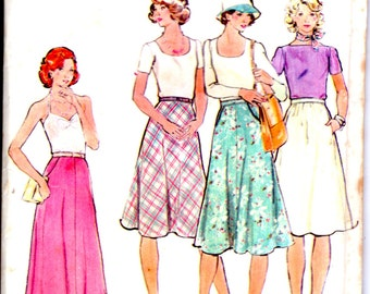 On Sale - 1970s Butterick Sewing Pattern no 4067  for Misses Skirt  Waist size 67 cm (26 1/2 inch)