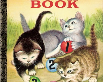 My First Counting Book Vintage Little Golden Book Illustrated by Garth Williams