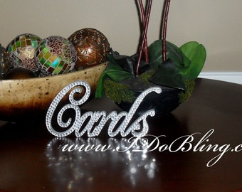 Gorgeous Bling Favors Sign Wedding Reception Card Box Table