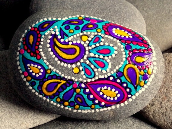 Dipped My Brush In Paisley Painted Rock Sandi Pike Foundas