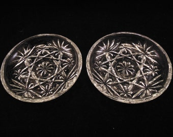 Anchor Hocking Early American Prescut Coasters Pair Two Pieces