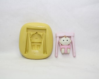 Baby bouncing chair -silicone mold