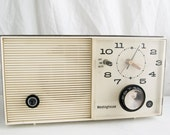 Vintage Tube Radio Alarm Clock, Westinghouse AM Tube Radio with Alarm Clock, MId Century Radio Alarm Clock