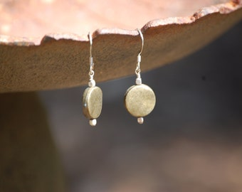 gold tone coin shaped earrings