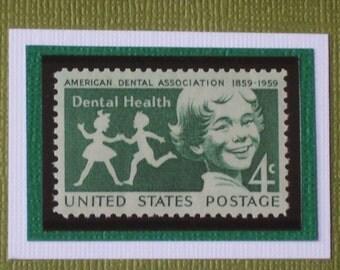 Salute to Dental Health - Vintage Framed Postage Stamp - No. 1135