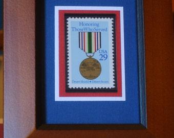 Honoring Those Who Served - Desert Shield and Desert Storm - Vintage Framed Stamp - No. 2551
