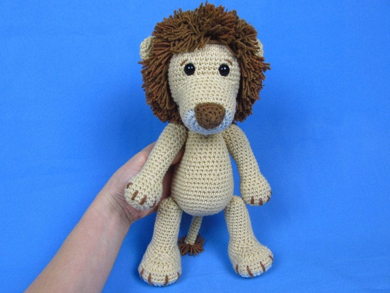 Amigurumi Lion Pattern : My Friend Lion Leo Amigurumi Crochet Pattern / PDF e-Book