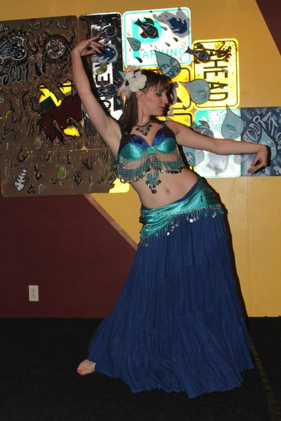 """The """"Caberet Queen"""" Beaded Bellydance Costume Set, Made to Order"""