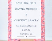 Modern Vintage Geometric Save The Date Cards