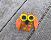 Mr. Brown Owl Felt Hair Clip