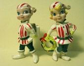 Vintage Jewel Eyed Christmas Elves Made by Kreiss