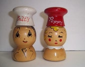 Salty and Peppy wood shakers