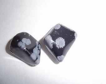 Snowflake Obsidian, polished stones