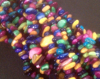 Dyed Mother of Pearl Nugget Beads