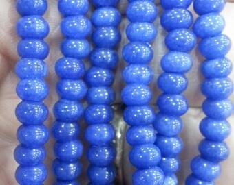 6 x 4 mm Blue Quartz Rondelle Beads