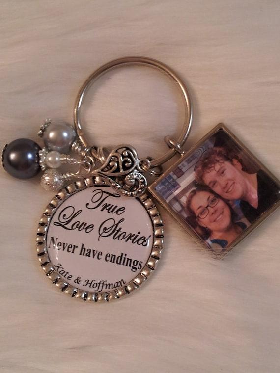 Keychain For Wedding Gift : Wedding Keychain Wedding necklace Wedding favor by HAZELCOVE