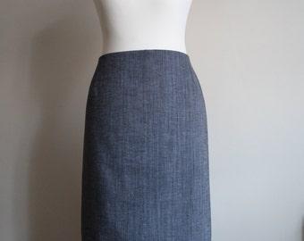 Grey cotton pencil skirt Plus Size FREE UK SHIPPING