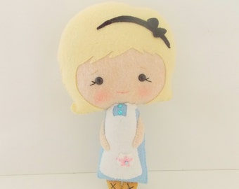 Alice in Wonderland -  Large Alice Doll  - Fairy Tale Doll