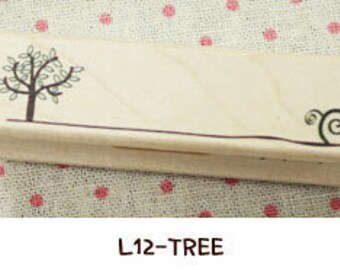 1 Pcs Korea DIY Wood Rubber Stamp-Lace Stamps L12